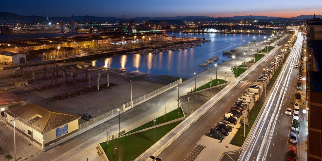 Paseo marítimo Marqués de la Hermida. Santander