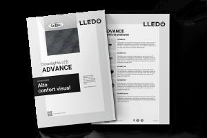 Dossier de louminarias de techo Advance LED