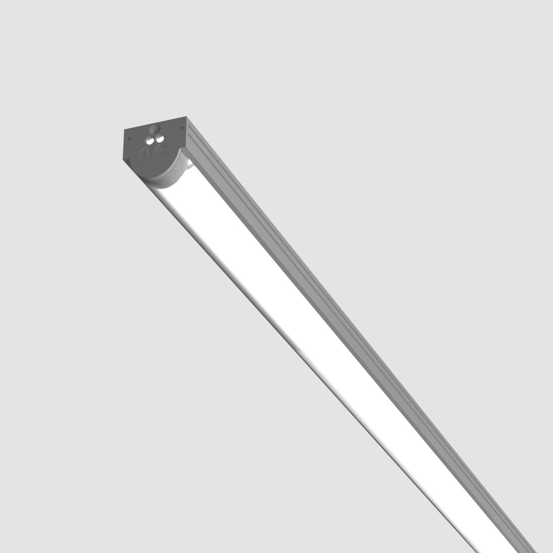 FLAT 25 ∩ · Aluminio anodizado · Difusor opal · Instalación en superficie