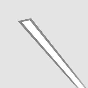 FLAT 25 ― · Aluminio anodizado · Difusor transparente · Instalación en superficie