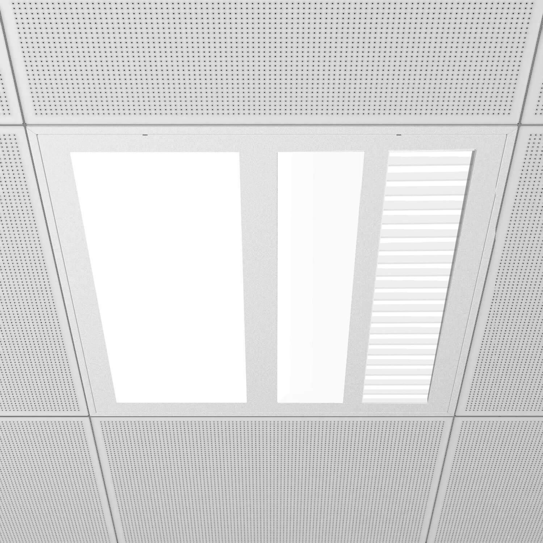 Medical-960 3 salidas - Luminaria para habitaciones de hospital, con 3 fencendidos.