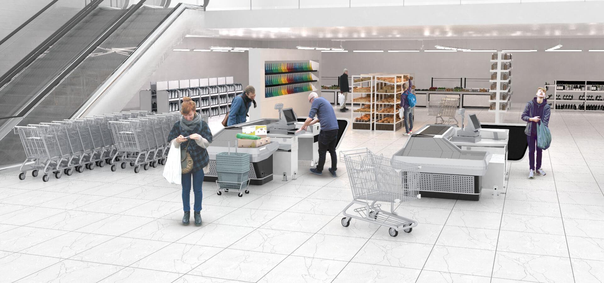 Iluminación en supermercados. Proyecto ejemplo.