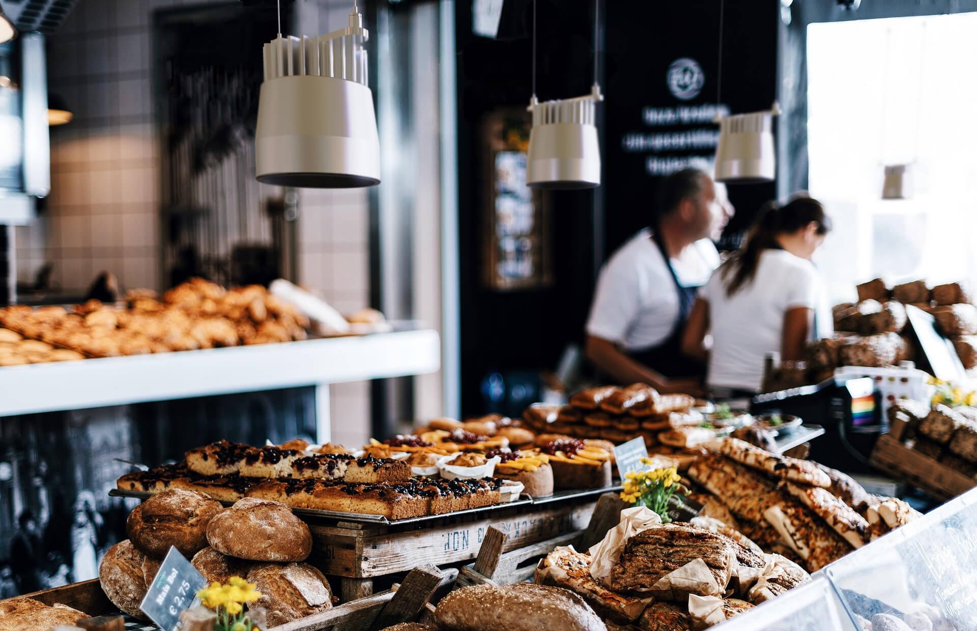 Iluminación en panaderías y pastelerías