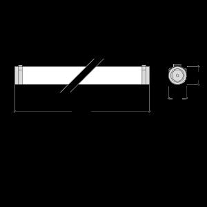 Dimensiones de la luminaria ARTICS de Lledó