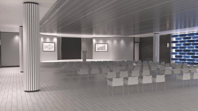Escena presentación para sala de conferencias