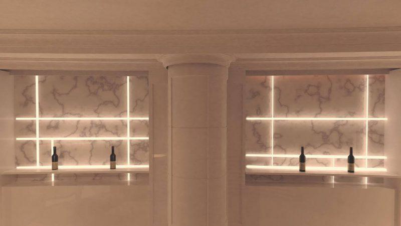 Luminarias para el BAR de un Hotel