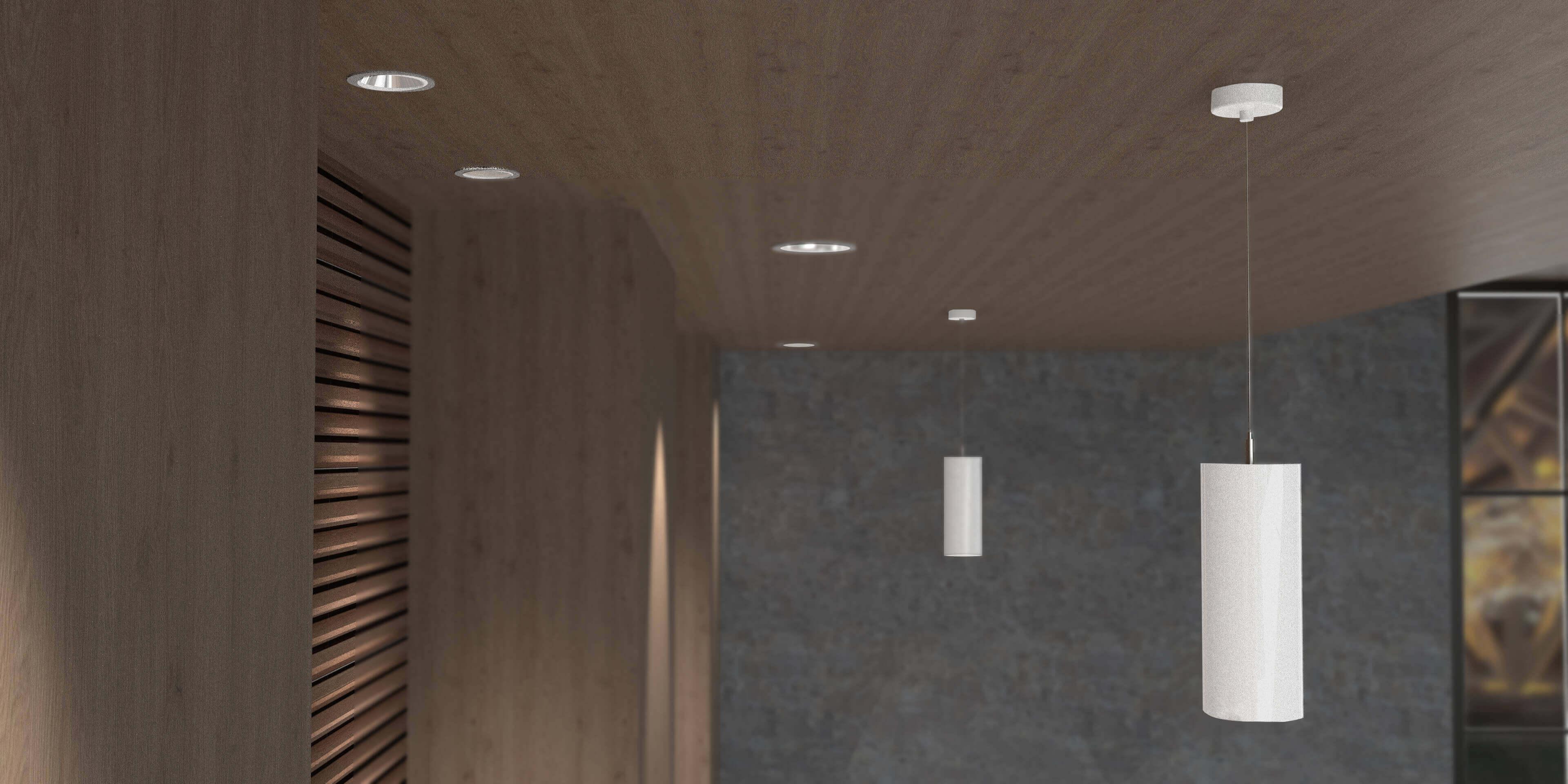 Lámparas para iluminación empotrados en el techo
