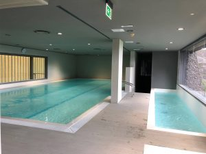 Iluminación de piscinas de la Ciudad deportiva