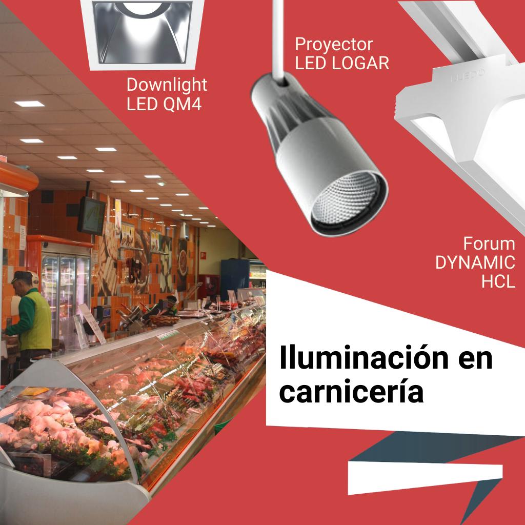 Iluminación para carnicarías
