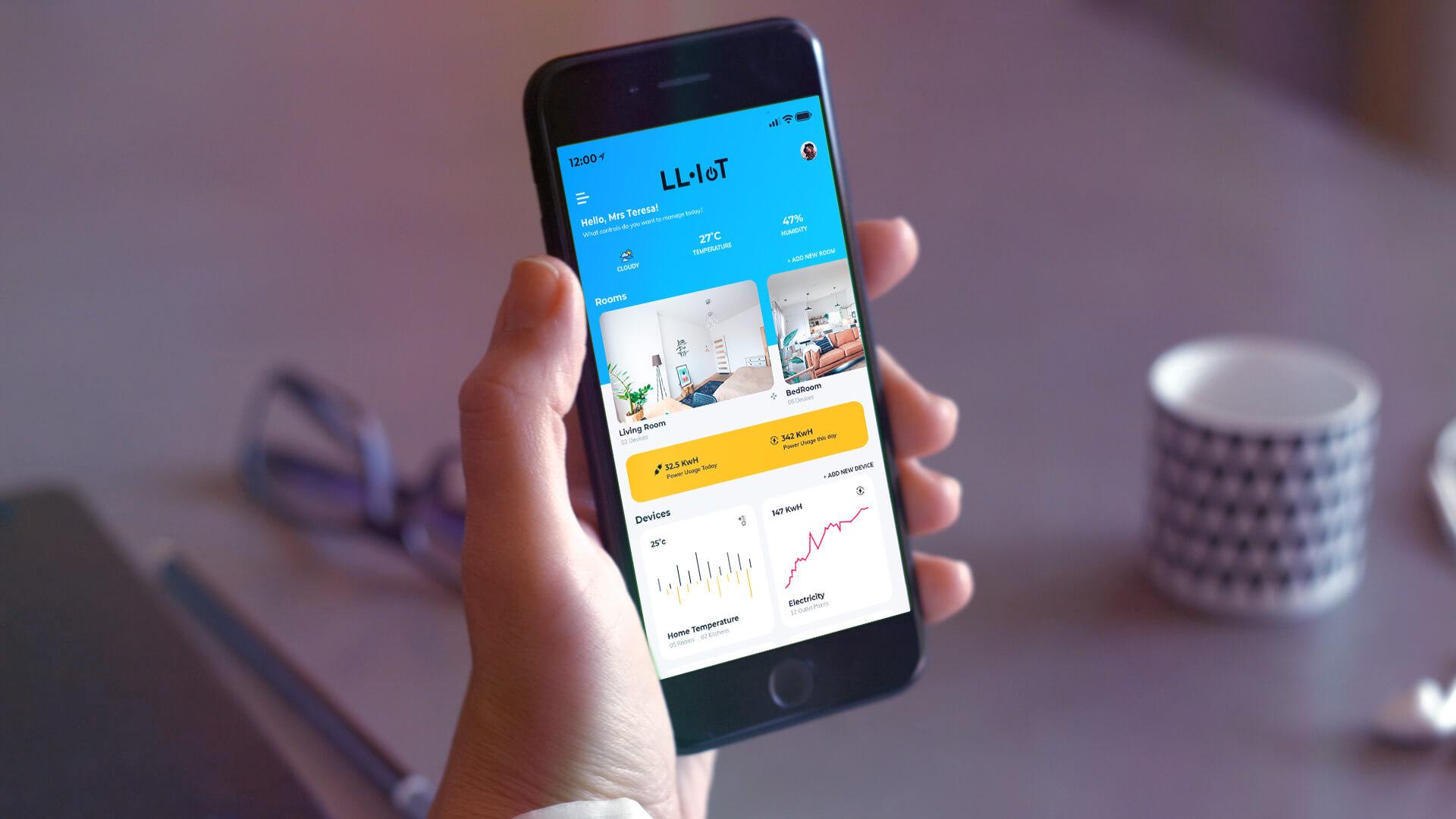 LLEDÓ IOT ejemplo de app de gestión móvile de internet de las cosas