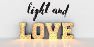 Iluminación romántica en San Valentín