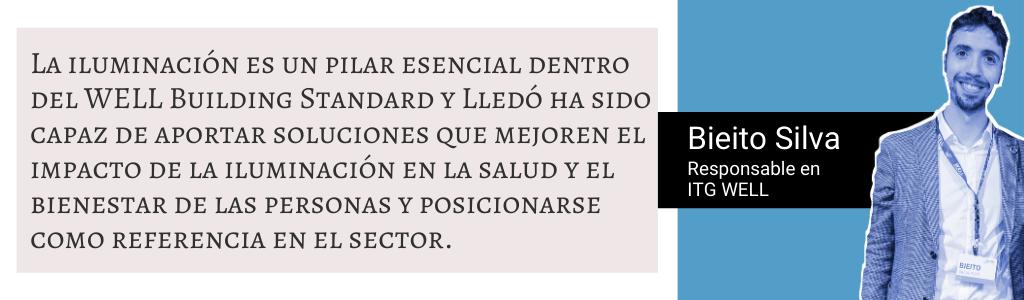 Cita de Bieito Silva sobre el nuevo acuerdo de colaboración con Grupo Lledó
