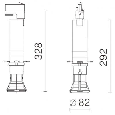 Dimensiones del foco LED Gobo
