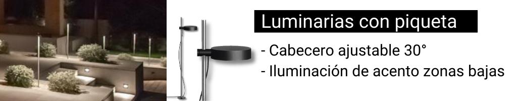 Luminarias con piqueta BEGA